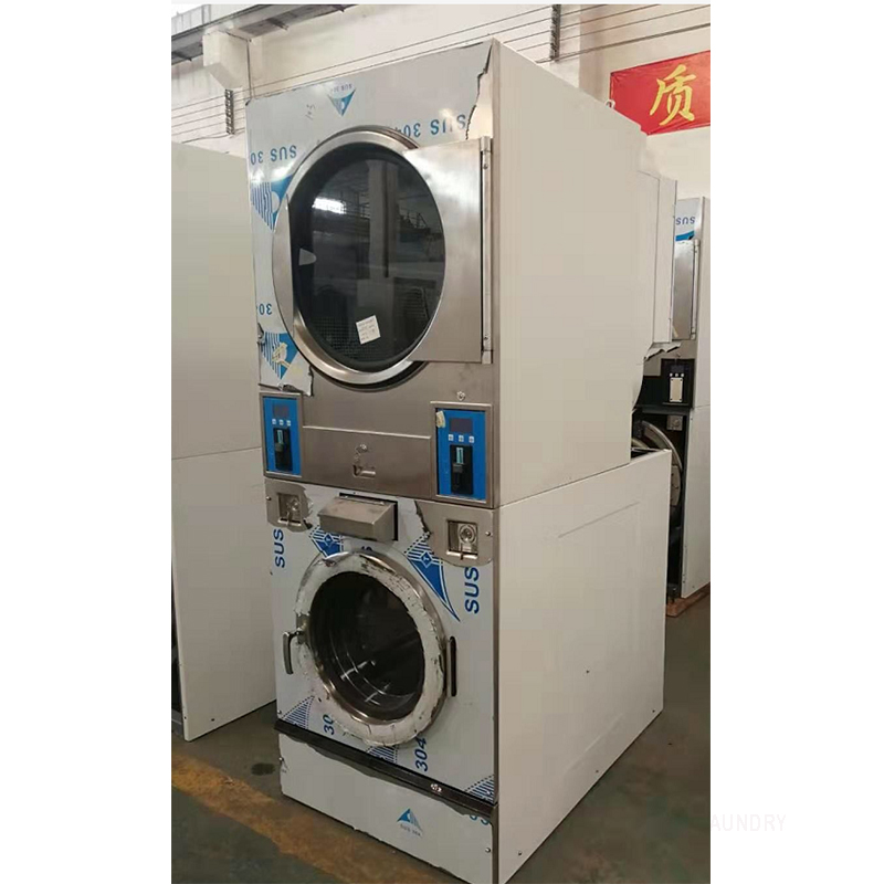 GOWORLD double self laundry machine directly price for commercial laundromat-3
