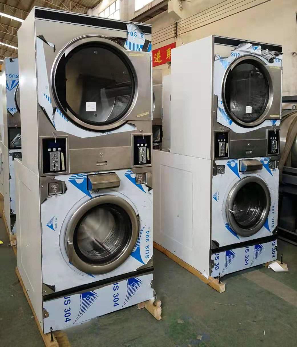 GOWORLD double self laundry machine directly price for commercial laundromat-4