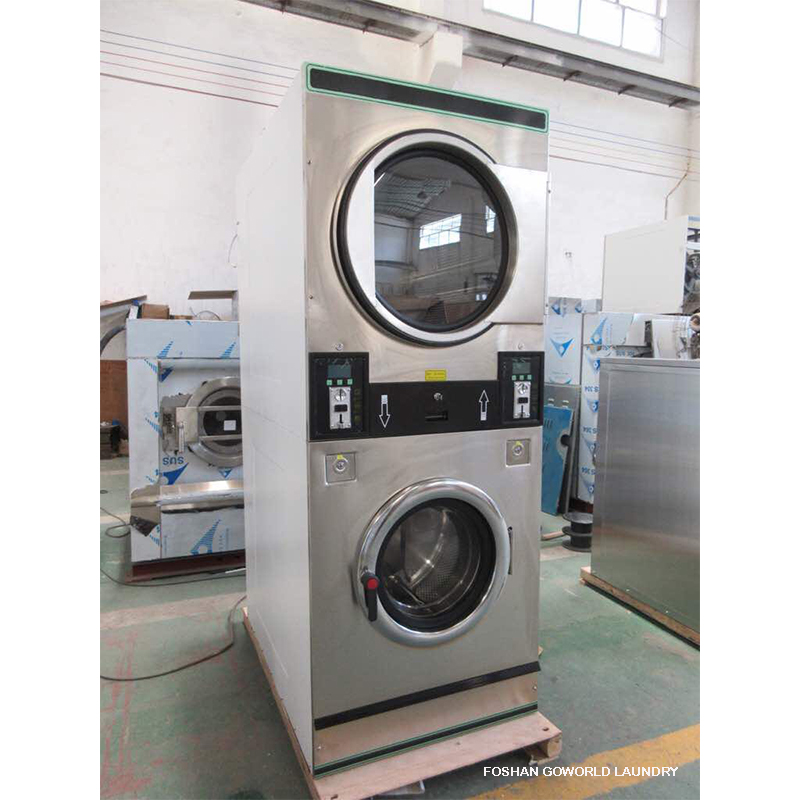GOWORLD double self laundry machine directly price for commercial laundromat-2