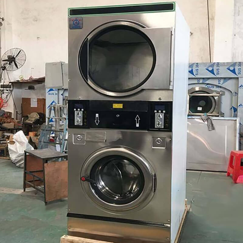 GOWORLD double self laundry machine directly price for commercial laundromat