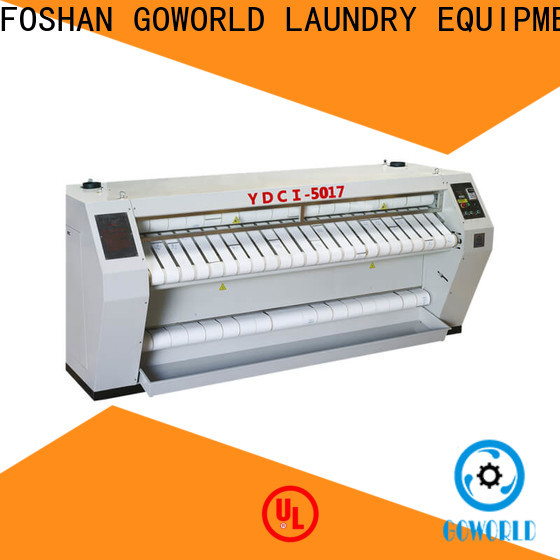 GOWORLD stainless steel roller ironing machine factory price for laundry shop