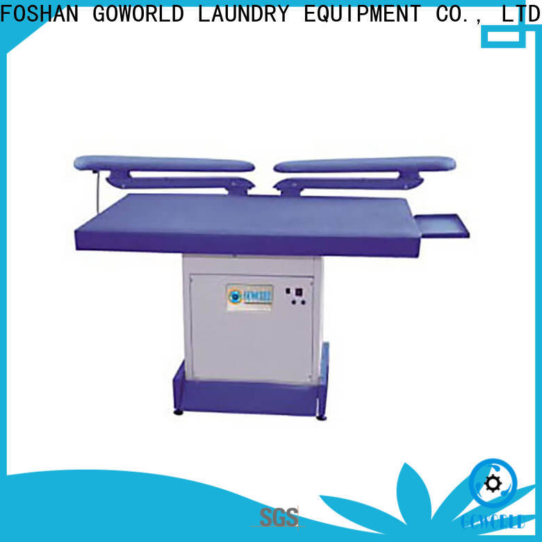 GOWORLD iron laundry press machine pneumatic control for dry cleaning shops