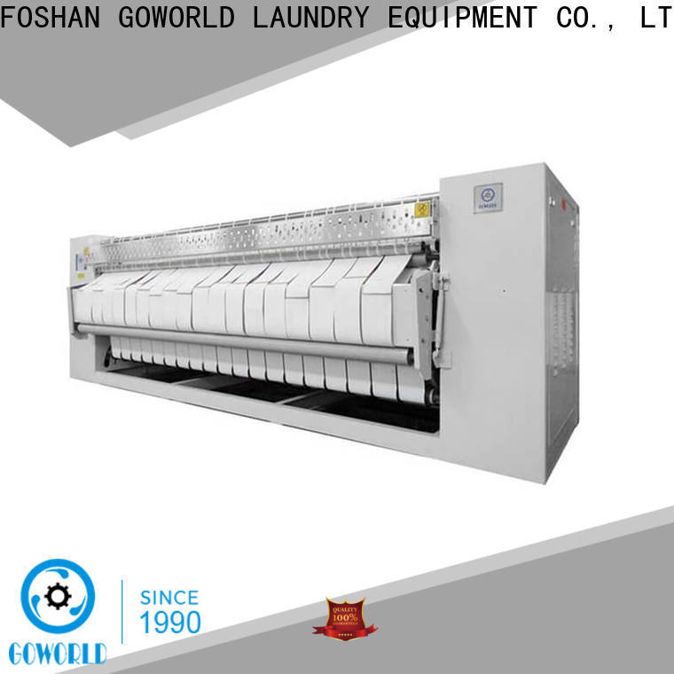 GOWORLD safe ironer machine factory price for laundry shop