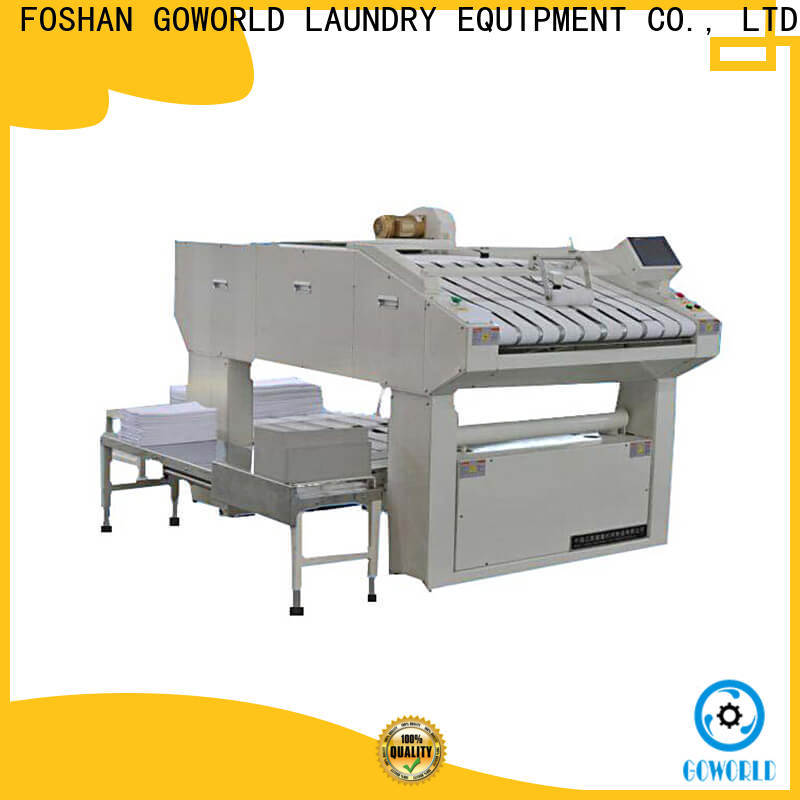 GOWORLD industrieslaundry folding machine factory price for hotel