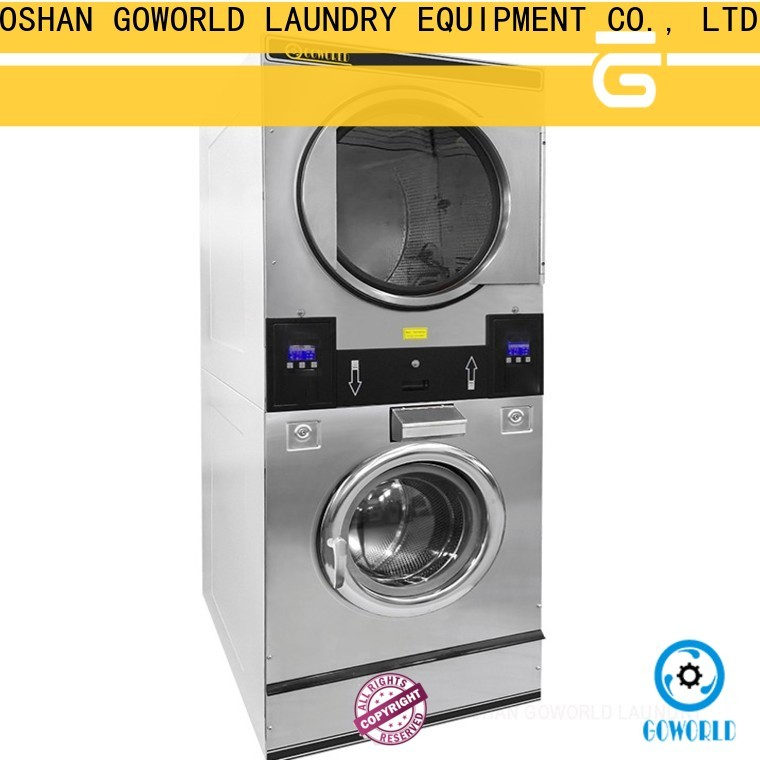 GOWORLD brigade stackable washer and dryer sets natural gas heating for school
