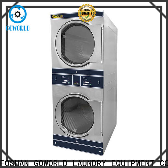 GOWORLD Energy Saving stackable washer dryer combo electric heating for laundry shop