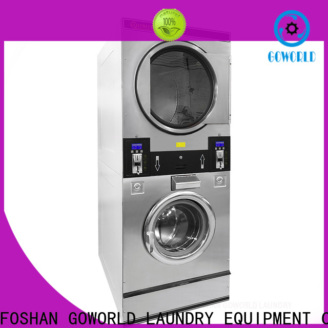 GOWORLD 8kg12kg self service washing machine natural gas heating for hotel