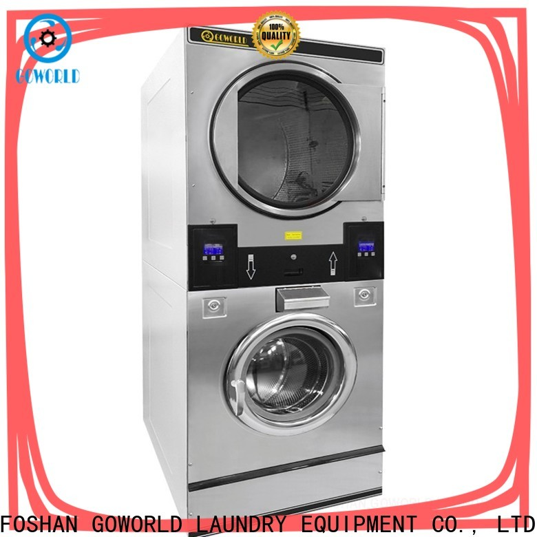 Easy Operated stackable washer and dryer sets commercial electric heating for laundry shop