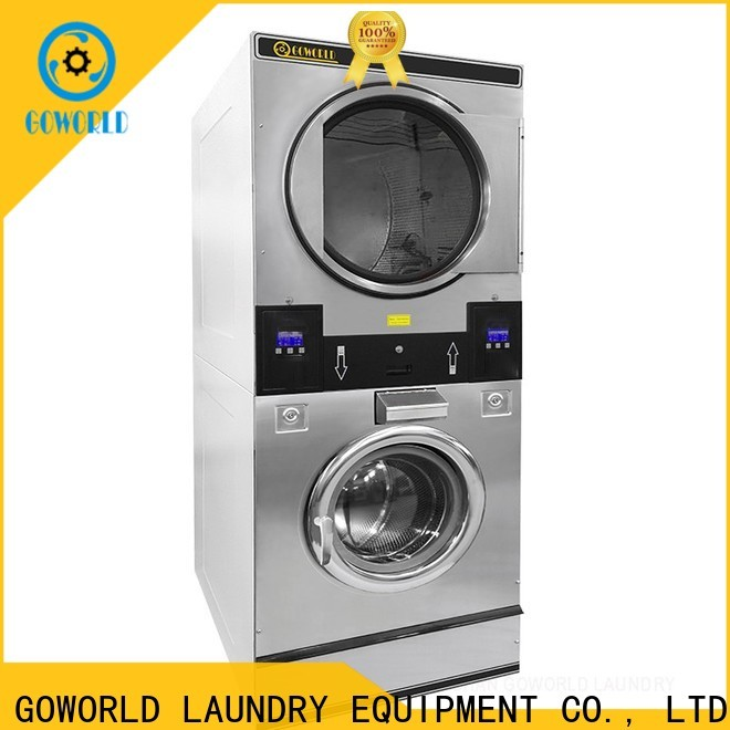 GOWORLD Energy Saving stackable washer dryer combo natural gas heating for hotel