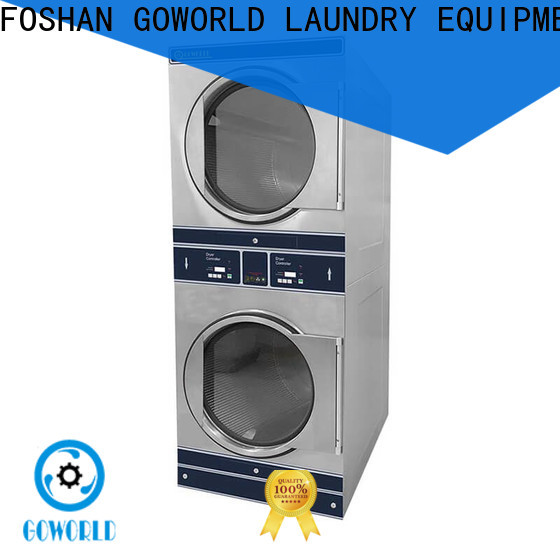 GOWORLD laundry stacking washer dryer electric heating for school