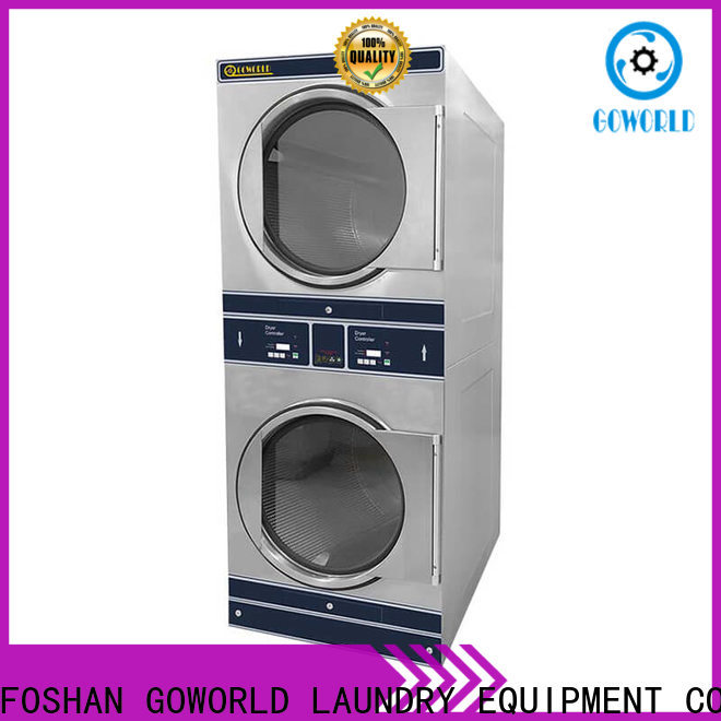 GOWORLD Energy Saving stacking washer dryer electric heating for commercial laundromat