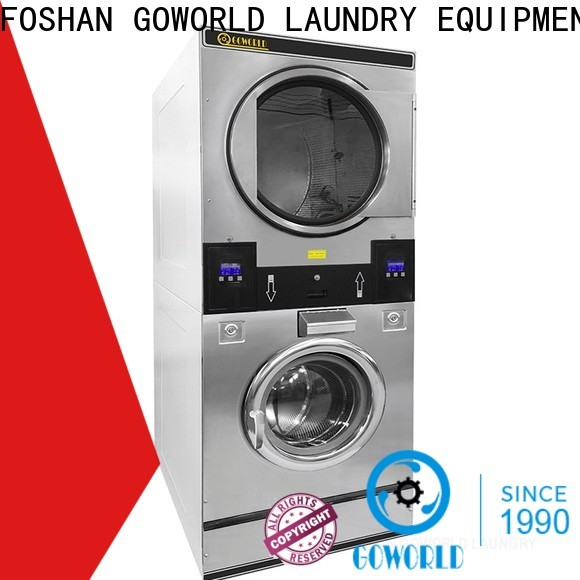 GOWORLD Easy Operated stacking washer dryer LPG gas heating for laundry shop