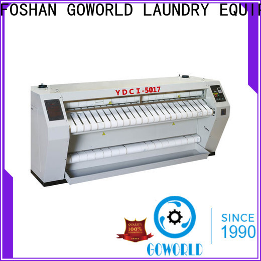 GOWORLD high quality roller ironing machine free installation for laundry shop
