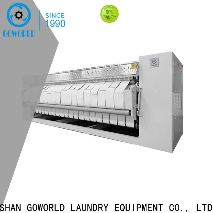 GOWORLD stainless steel flatwork ironer easy use for laundry shop