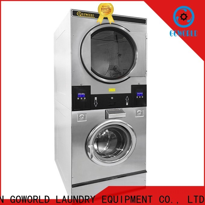 GOWORLD Energy Saving stackable washer and dryer sets LPG gas heating for fire brigade