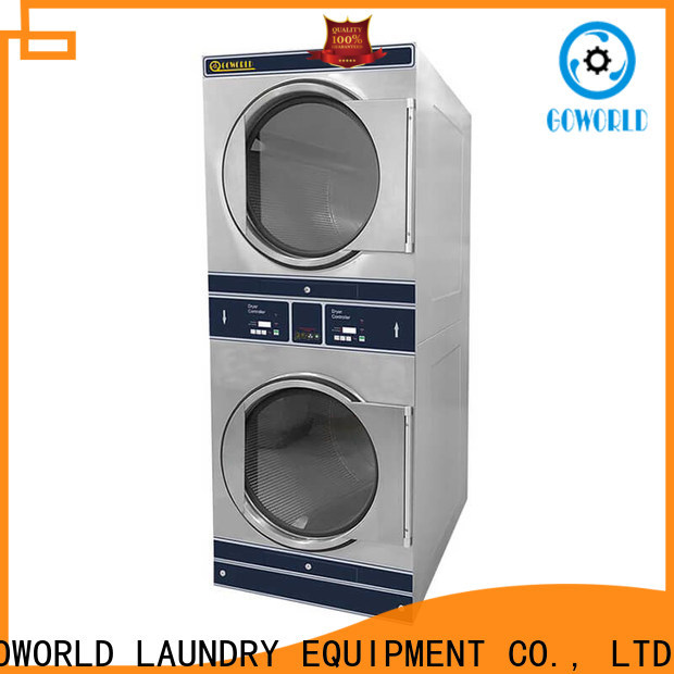 GOWORLD Easy Operated stackable washer and dryer sets LPG gas heating for fire brigade