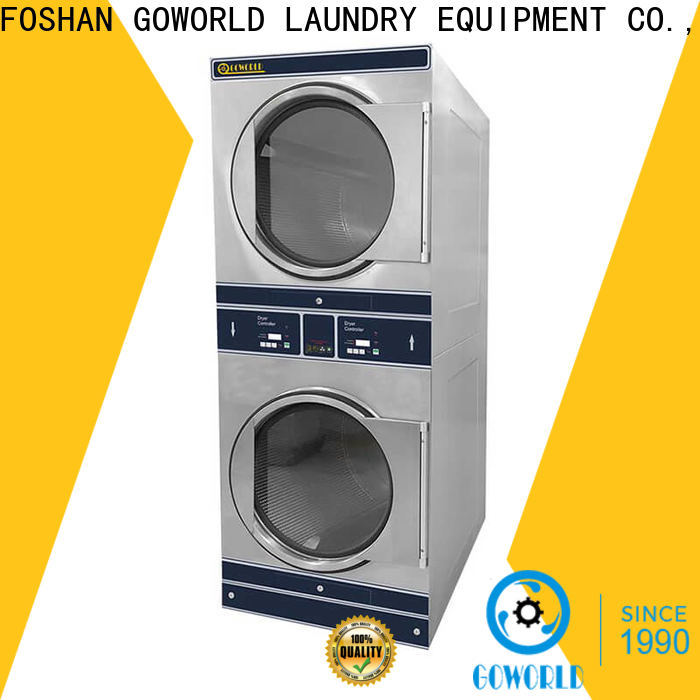 GOWORLD Low Noise stackable washer and dryer sets electric heating for hotel