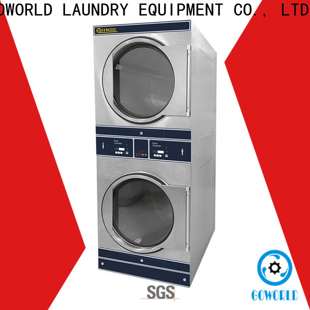 Low Noise stackable washer dryer combo commercial electric heating for fire brigade