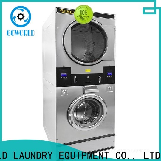 GOWORLD commercial stackable washer and dryer sets natural gas heating for laundry shop