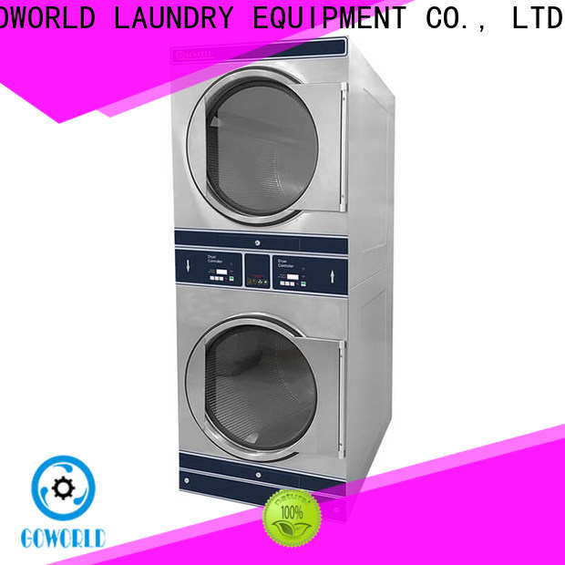 GOWORLD Manual stacking washer dryer natural gas heating for laundry shop