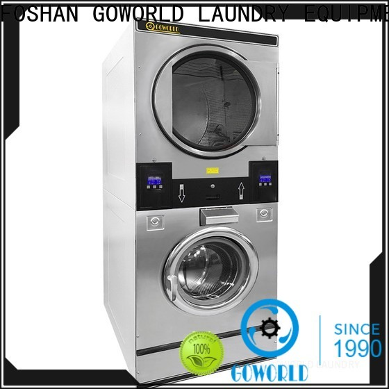 GOWORLD Energy Saving stackable washer and dryer sets supplier for laundry shop