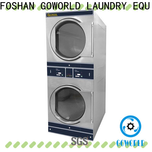 GOWORLD hotel stackable washer and dryer sets electric heating for fire brigade