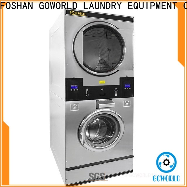 GOWORLD combo stackable washer dryer combo electric heating for commercial laundromat