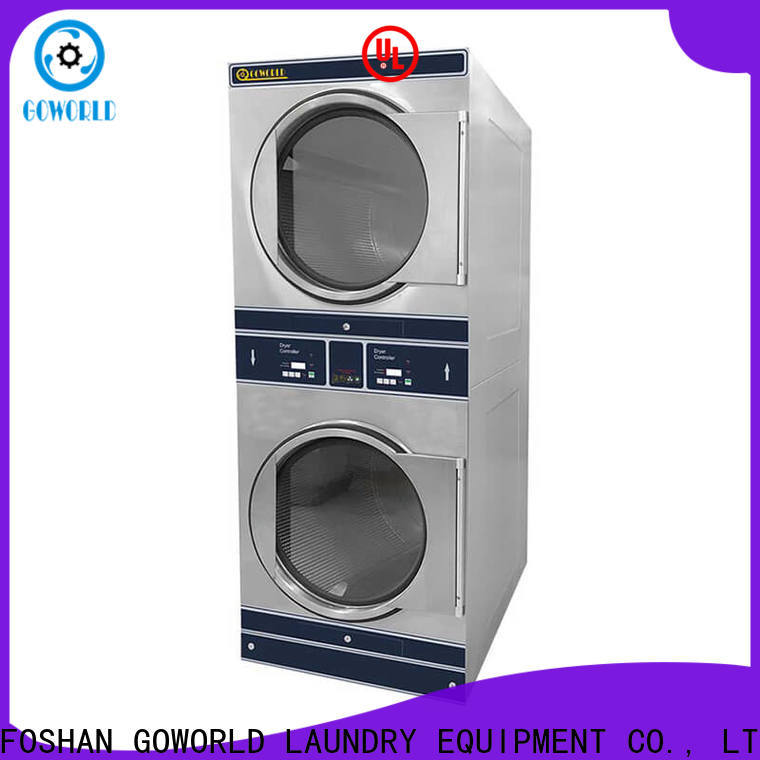GOWORLD Manual stackable washer dryer combo natural gas heating for fire brigade