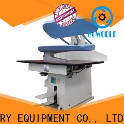 GOWORLD series industrial iron press machine for garments factories