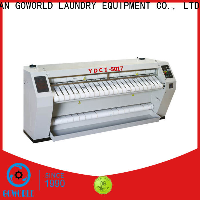 GOWORLD stainless steel flatwork ironer free installation for textile industries