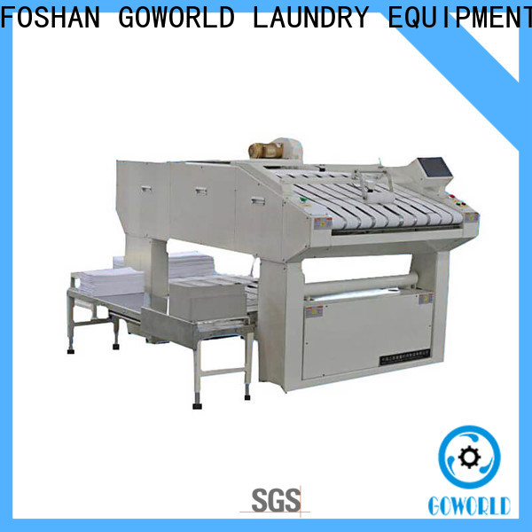 GOWORLD automatic towel folding machine efficiency for medical engineering