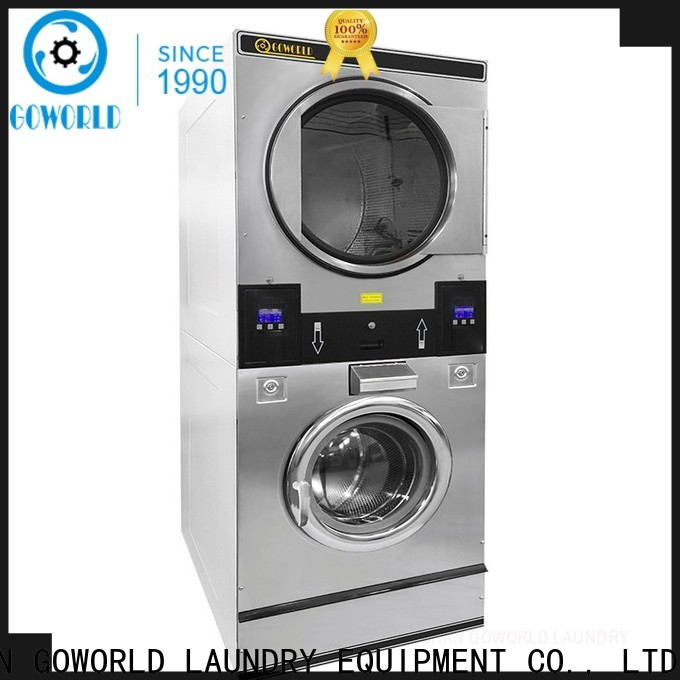 Manual stacking washer dryer drying electric heating for commercial laundromat