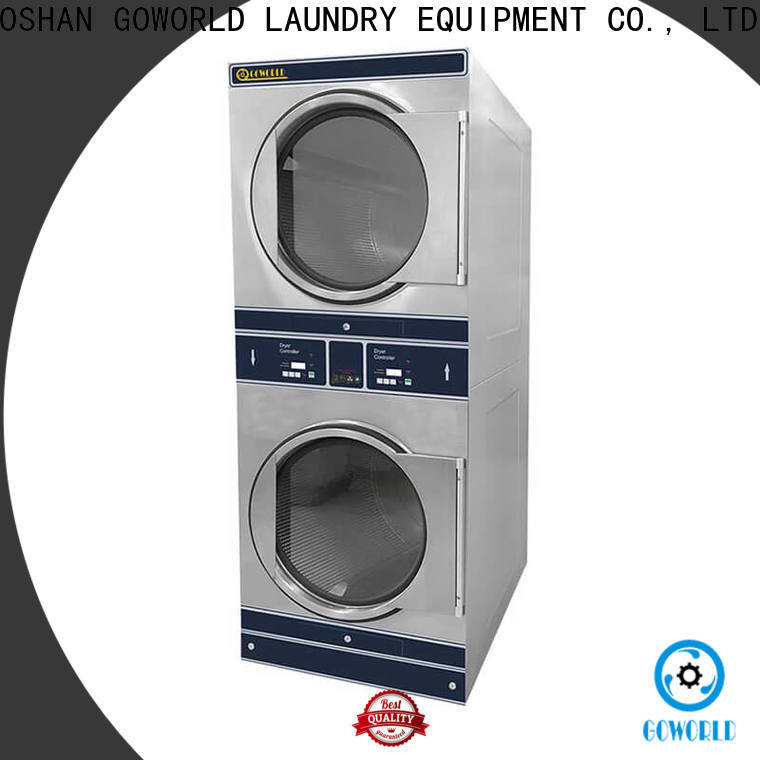 GOWORLD Energy Saving stacking washer dryer steam heating for school
