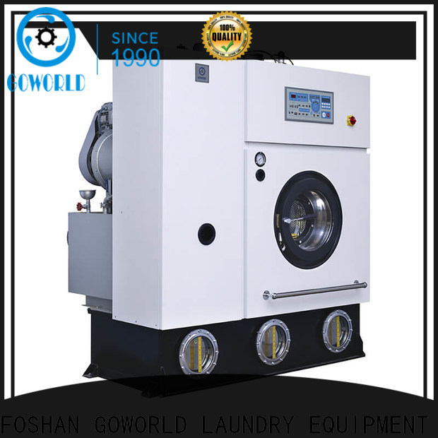 GOWORLD reliable dry cleaning washing machine Easy operated for railway company