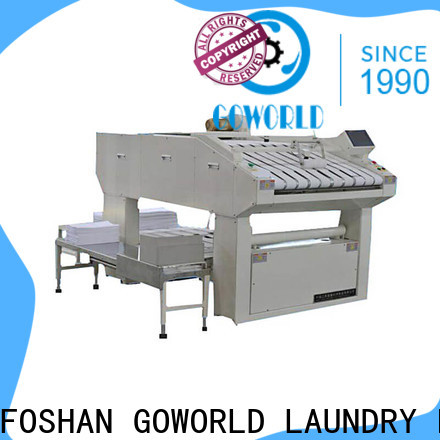 GOWORLD automatic towel folder intelligent control system for laundry factory