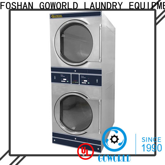 Manual stackable washer and dryer sets 8kg15kg LPG gas heating for hotel
