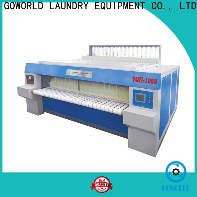 GOWORLD high quality flat work ironer machine easy use for textile industries