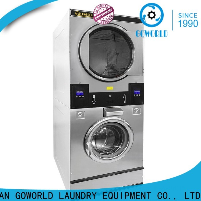 Energy Saving stackable washer dryer combo laundry natural gas heating for commercial laundromat