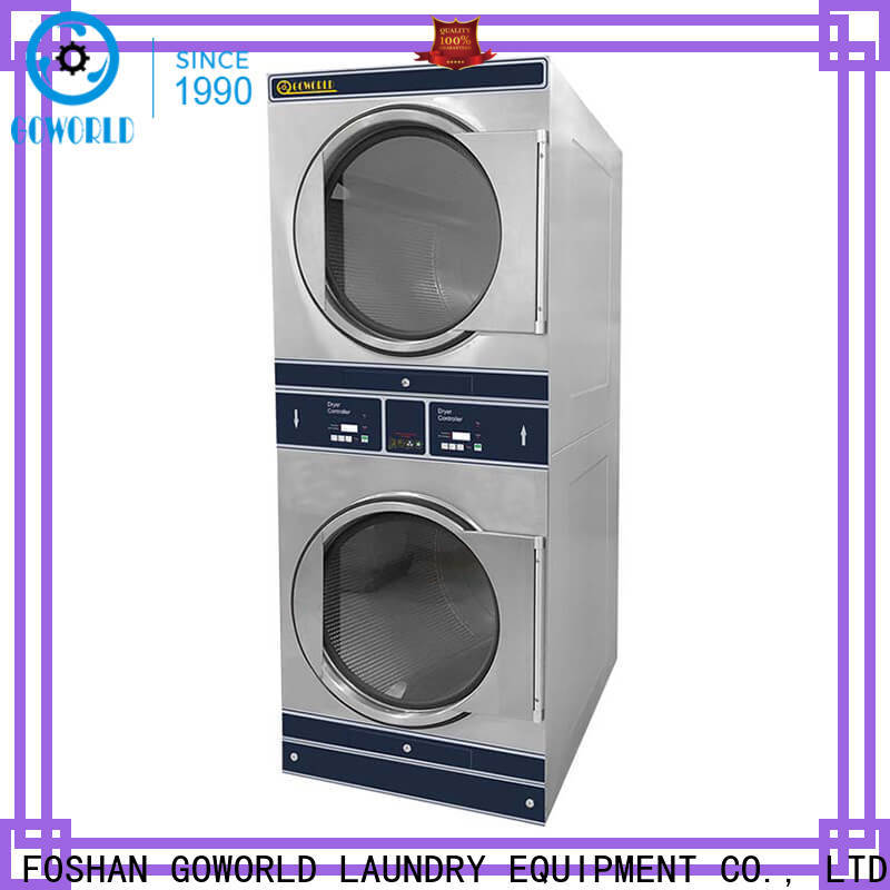 GOWORLD Energy Saving stackable washer dryer combo supplier for school