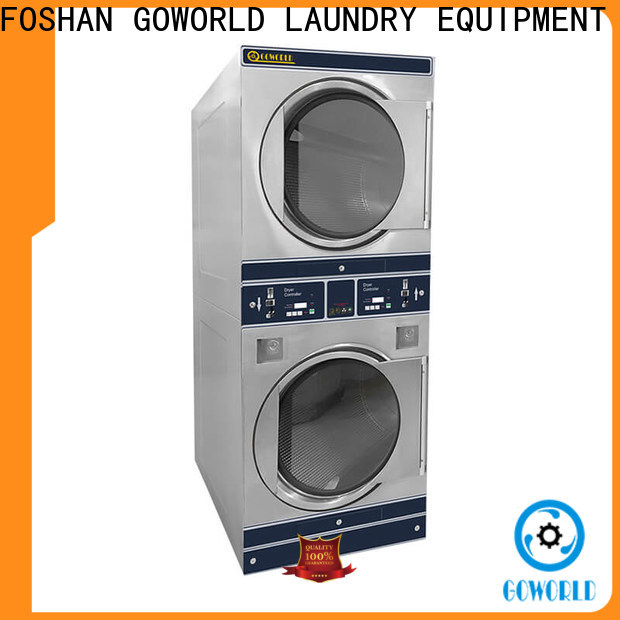 GOWORLD stainless steel self-service laundry machine directly price for school