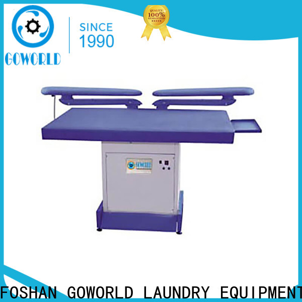 GOWORLD high quality industrial iron press machine Steam heating for hotel