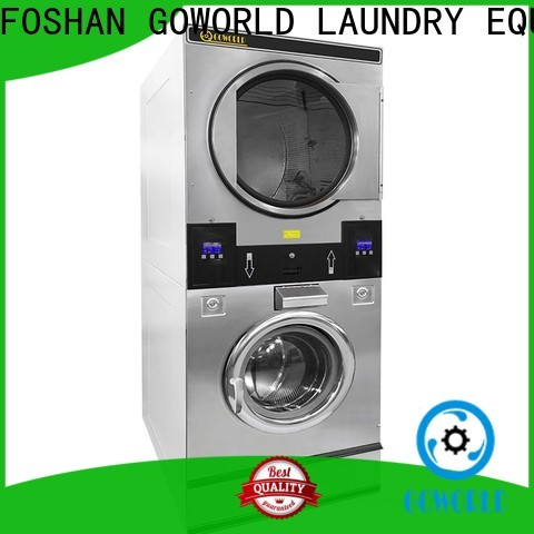 GOWORLD Easy Operated stacking washer dryer electric heating for fire brigade
