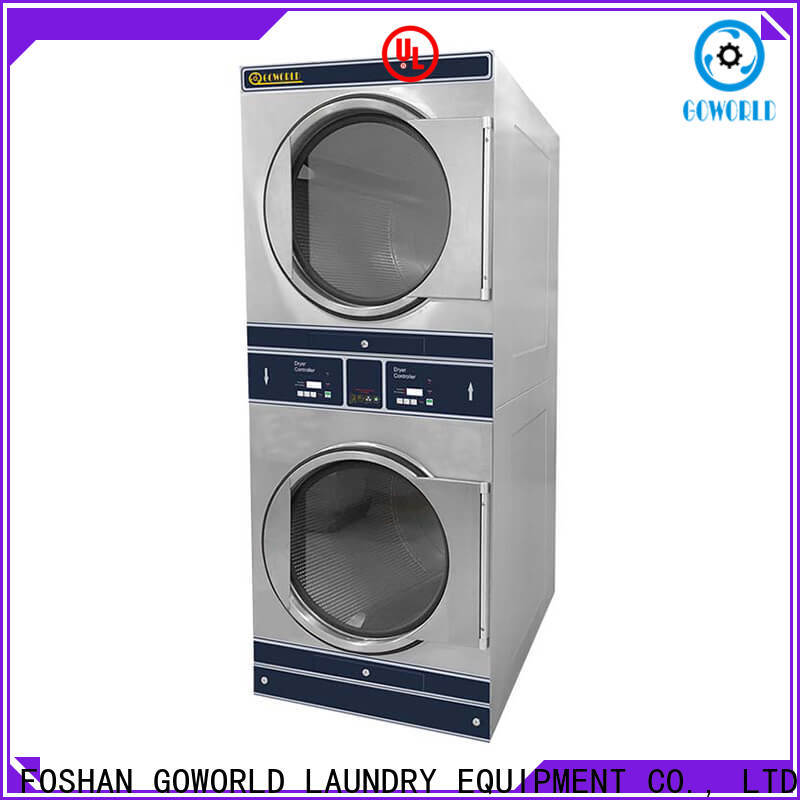 GOWORLD Manual stackable washer and dryer sets supplier for commercial laundromat