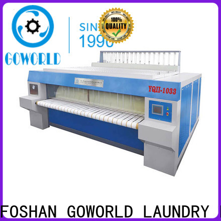 GOWORLD safe flat work ironer machine factory price for textile industries