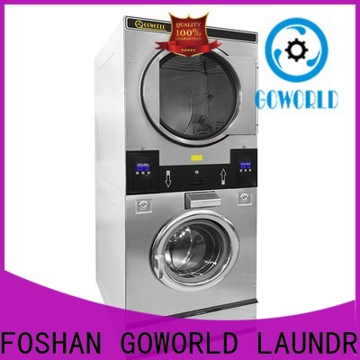 Easy Operated stackable washer and dryer sets drying natural gas heating for commercial laundromat