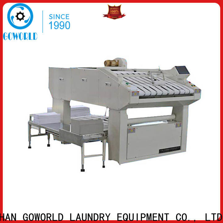 GOWORLD bedsheets folding machine high speed for laundry factory