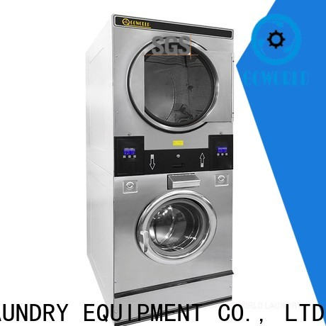 GOWORLD laundromat stackable washer and dryer sets supplier for fire brigade