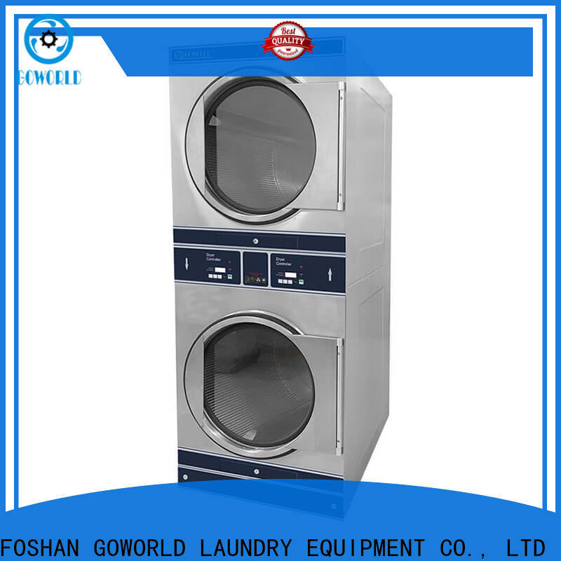 GOWORLD machine stackable washer dryer combo electric heating for hotel