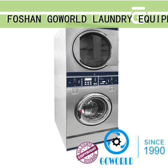 GOWORLD coin operated stackable washer and dryer selfservice for hotel
