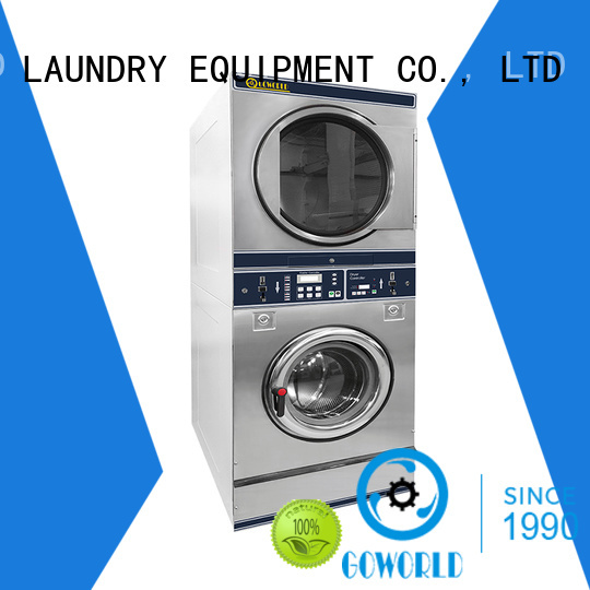 combo coin washing machine LPG gas heating for laundry shop GOWORLD
